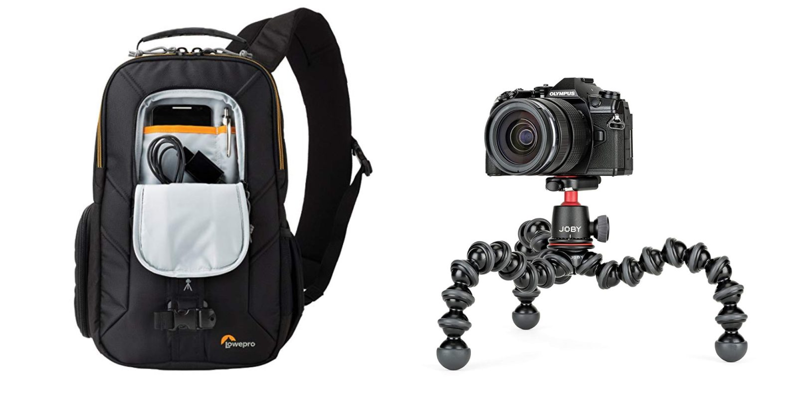 Bundle Lowepro's Slingshot Camera Bag and JOBY GorillaPod for $80 ($125 value)