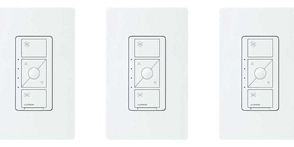 Lutron's recently-released HomeKit Smart Fan Switch drops to