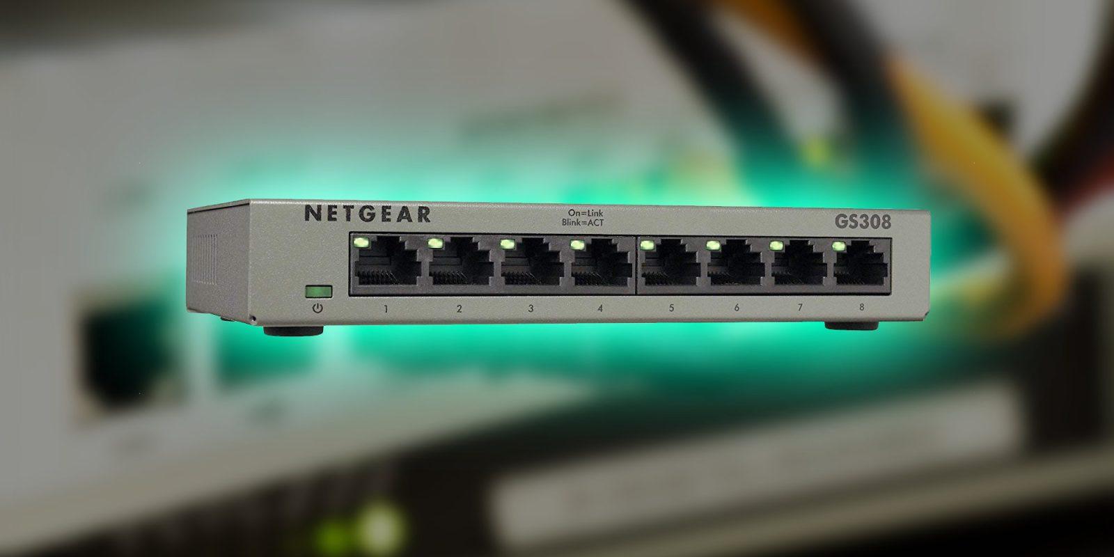 Organize smart home hubs w/ Netgear's 8-Port Ethernet Switch: $13 (Reg. $20)