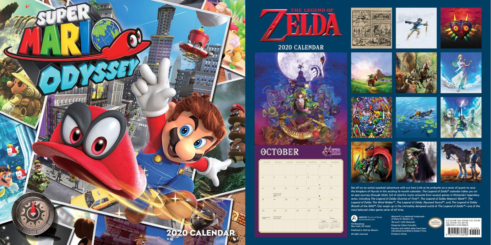 Nintendo Games 2020.Nintendo S 2020 Wall Calendars For 10 50 Zelda Mario