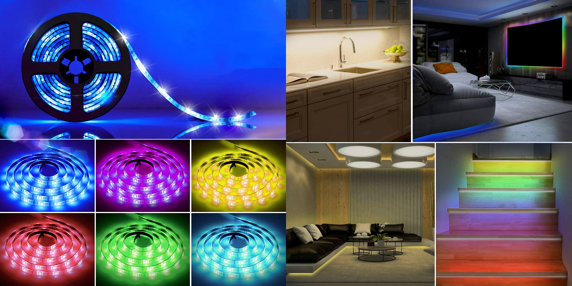This 2 Pack Of Battery Powered Rgb Led Strips Adds Color