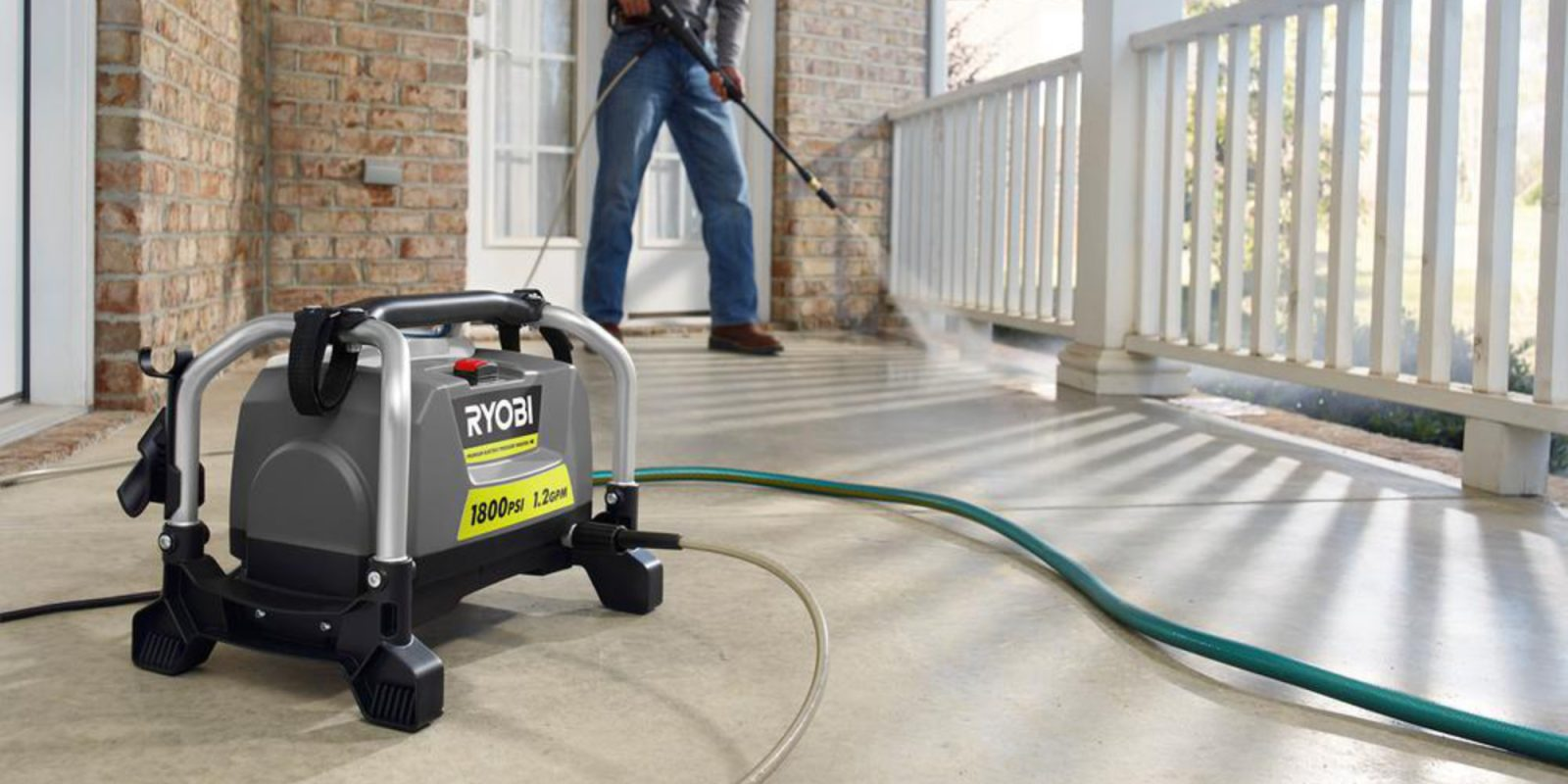 Clean it all w/ RYOBI's 1,800 PSI Electric Pressure Washer: $109 (Save $30)