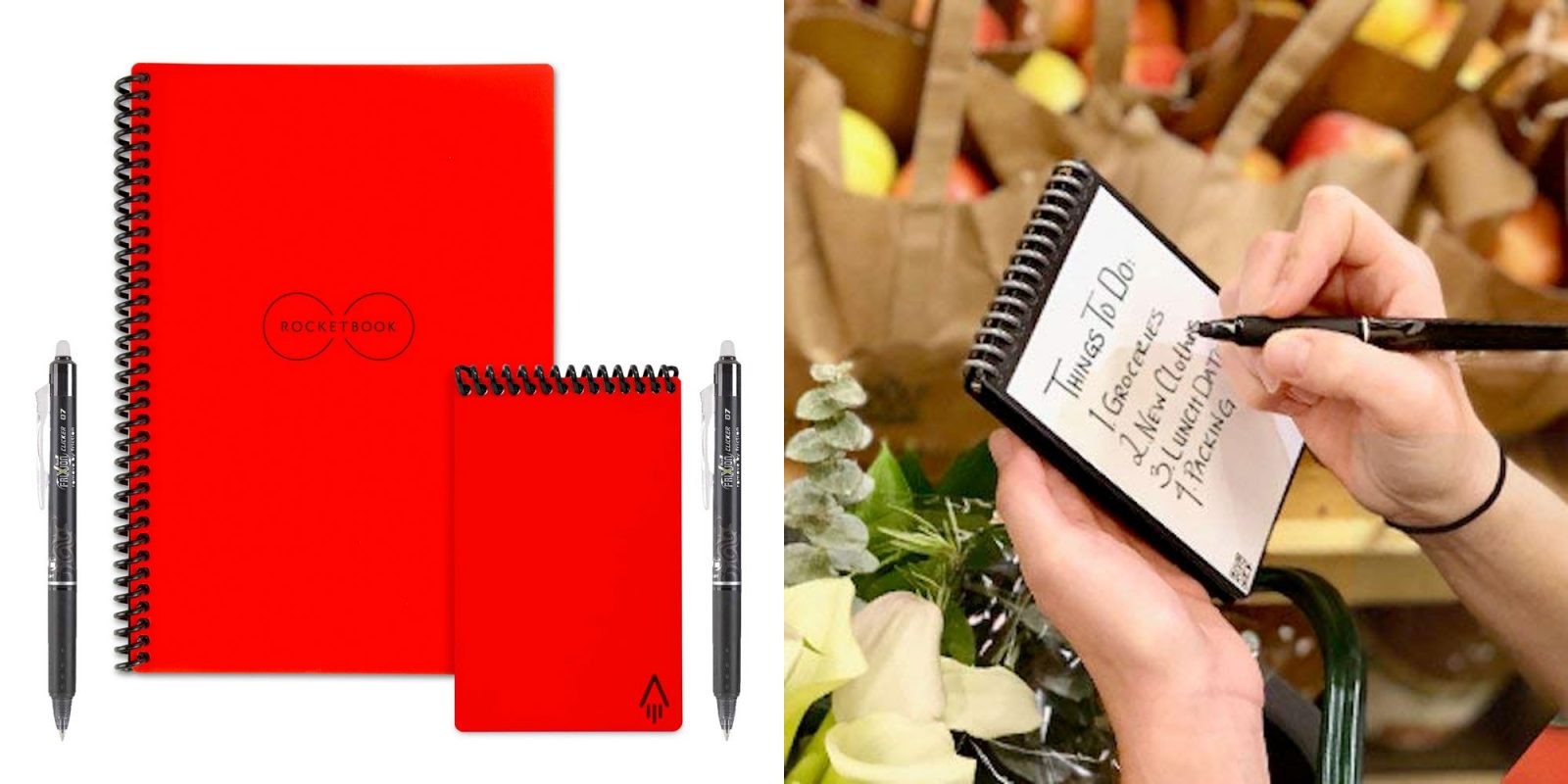 Get Rocketbook's erasable notebook w/ 2 pens & multiple sizes: $38 (Reg. $48)