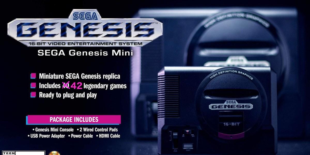 Sega Genesis Mini games complete list