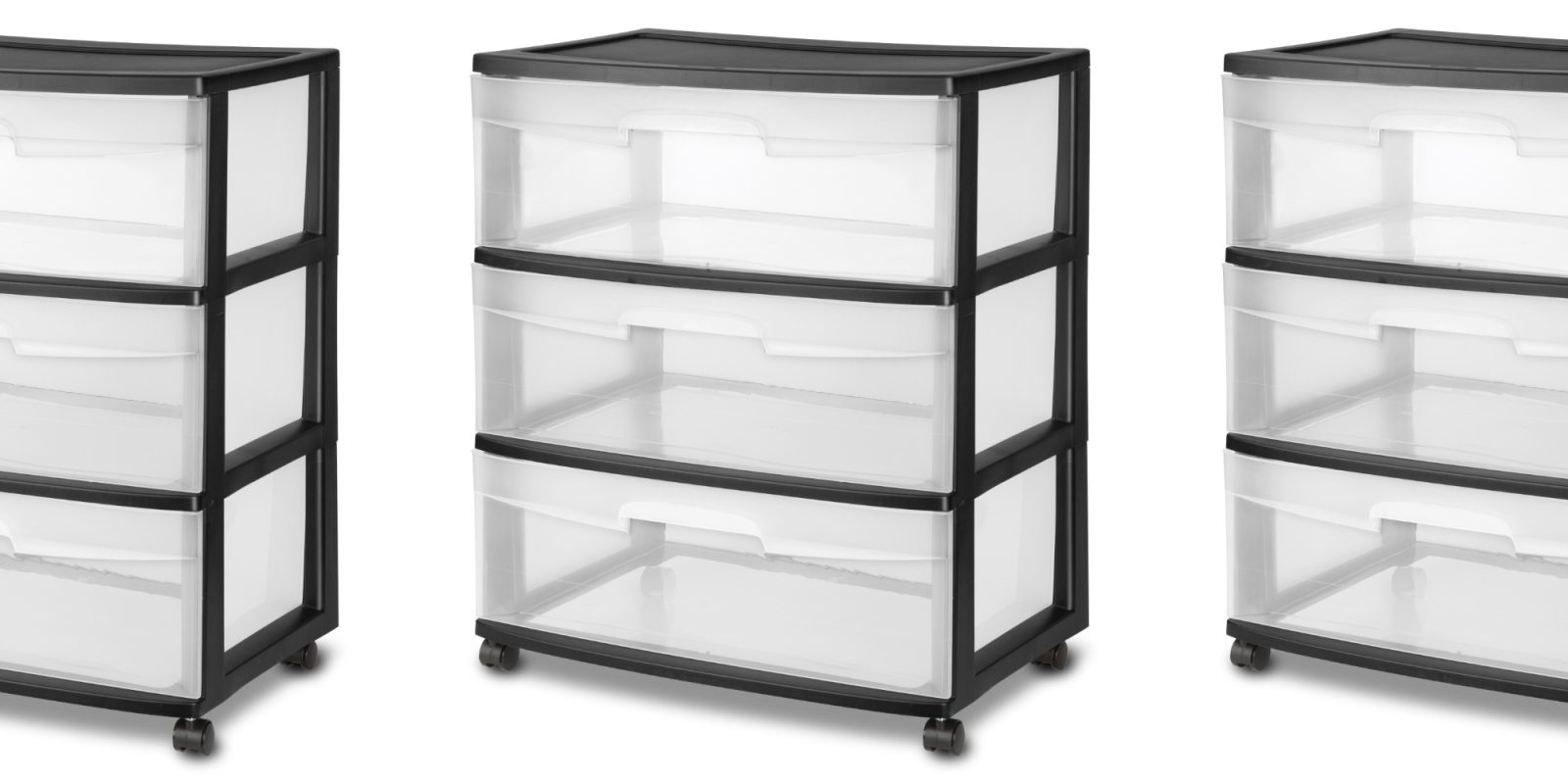 Save 25% on Sterilite's 3-Drawer Wide Organizer at a new all-time low of $15