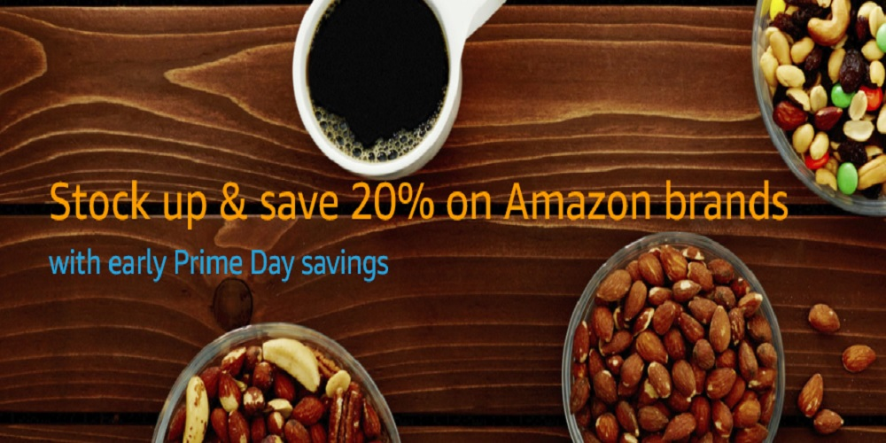 Amazon features early Prime Day savings on its in-house groceries at 20% off