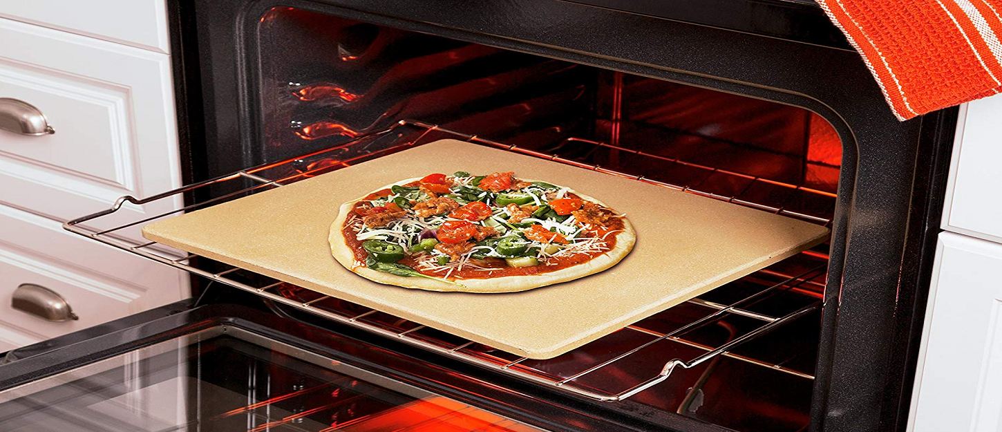 Pick up this Honey-Can-Do Pizza Stone and forget about delivery at $27.50