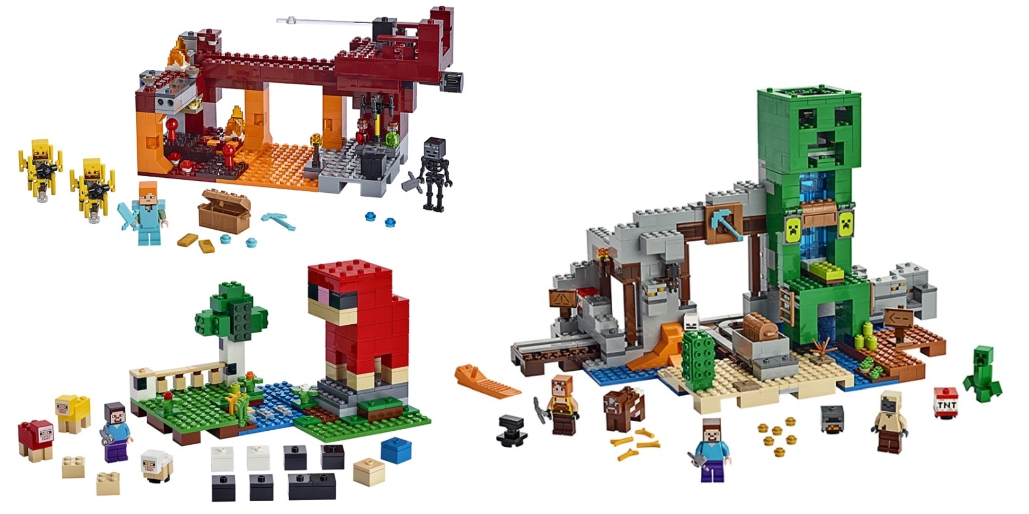 LEGO Minecraft summer sets