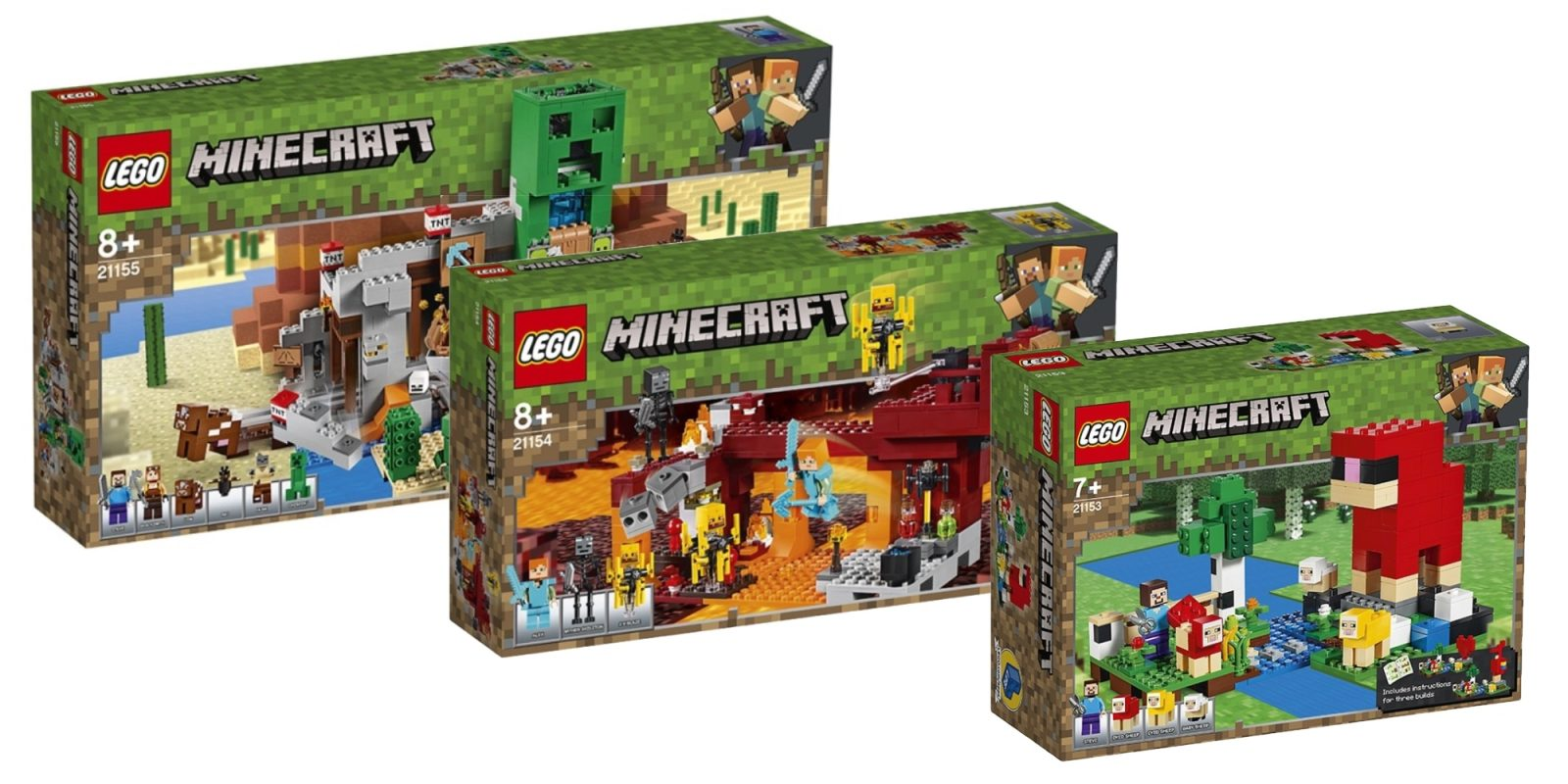 LEGO assembles three new Minecraft creations due out later this summer