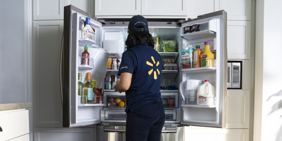Walmart InHome Delivery is creepy, but puts your groceries right in the fridge