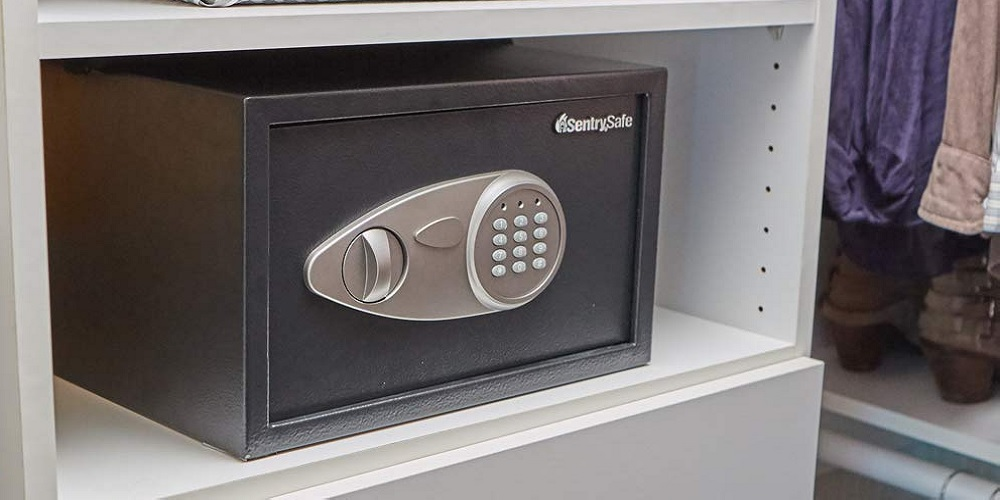 The SentrySafe X055 Security Safe holds cash, valuables, and more at $47.50