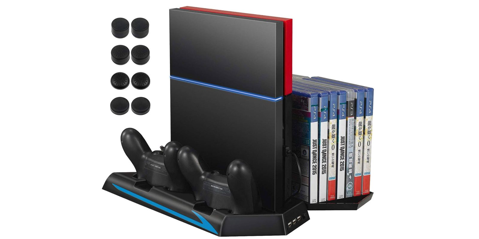 This PlayStation 4 cooling stand also charges your remotes and more for $10.50