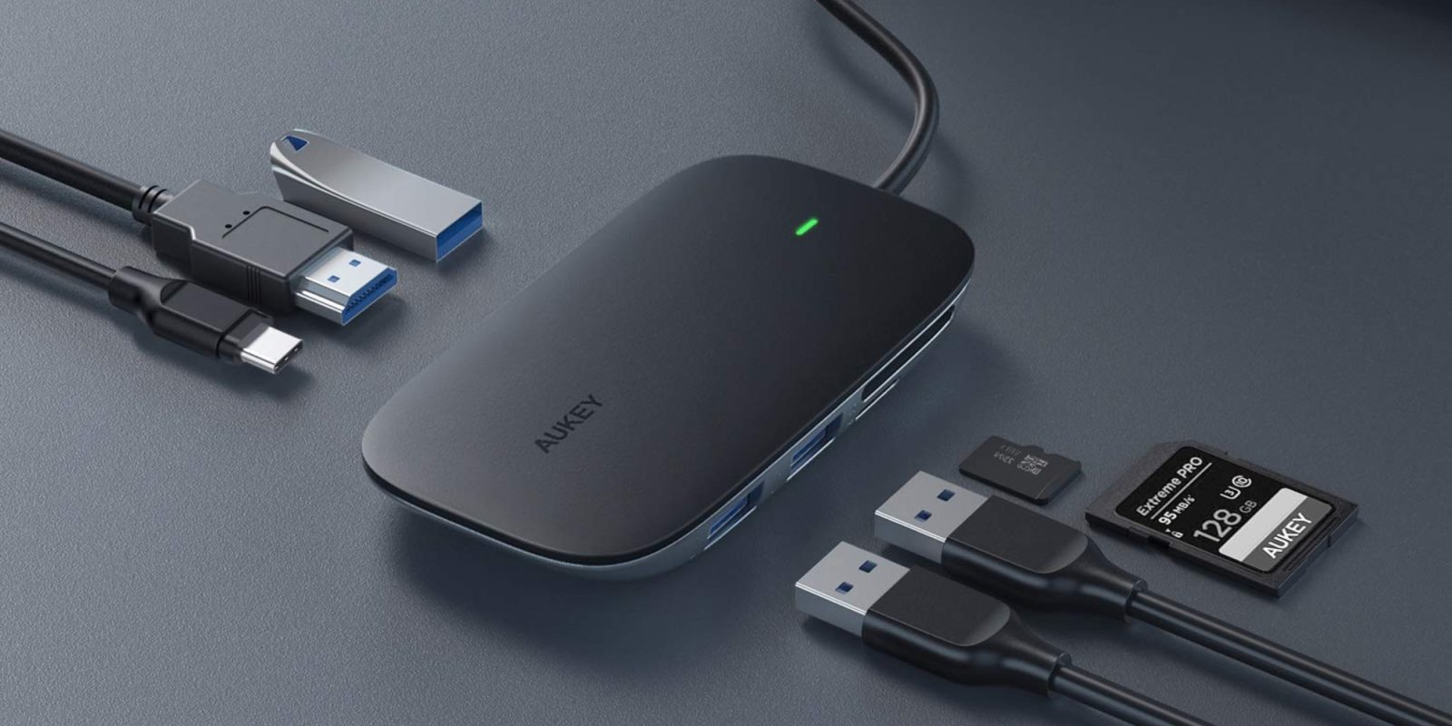 Aukey's USB-C PD Hub turns one port on your MacBook into seven: $25 (50% off)