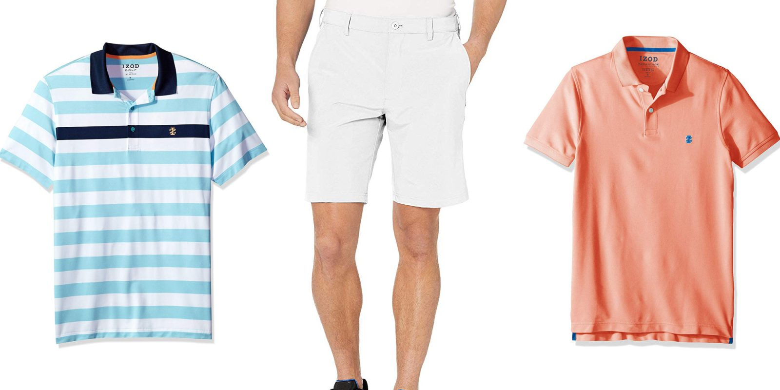sells latest outlet store sale IZOD golf shirts and shorts up to 30% off for Prime members ...
