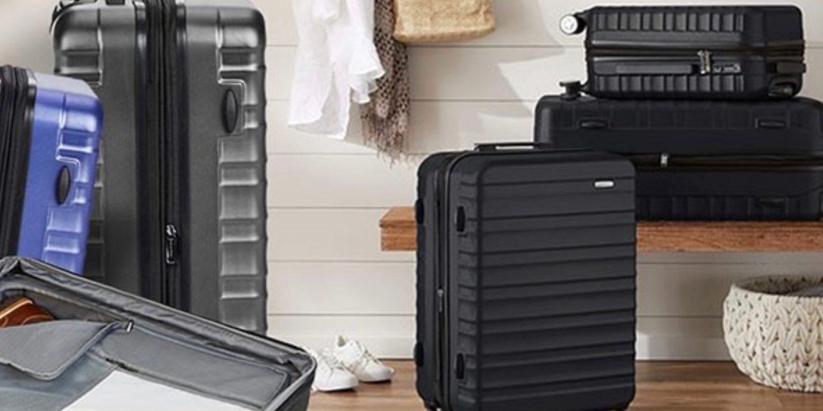 AmazonBasics Hardside Spinner Luggage at up to 53% off from $37 Prime shipped