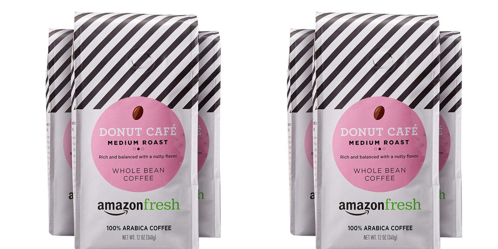 AmazonFresh Donut Cafe Whole Bean Coffee: 3-pack for under $10 (Reg. $18)