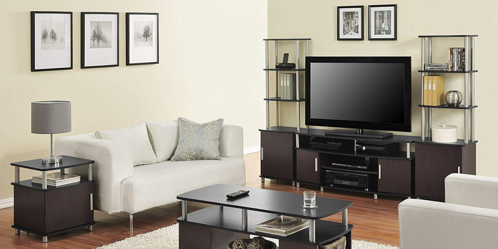 Refresh a living room with Ameriwood\'s Carson TV Stand: $65 (2019 ...