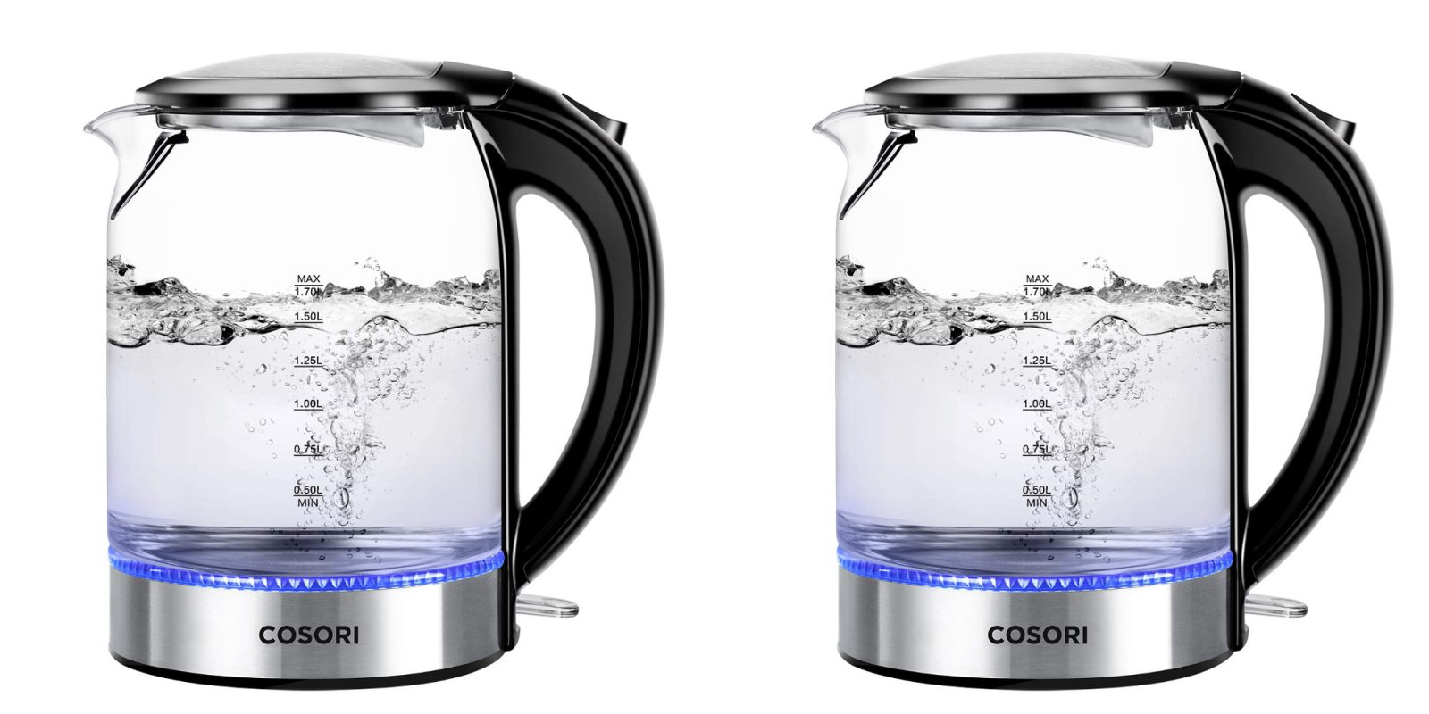 COSORI's glass/stainless steel kettle with LED lighting now 25% off at $30