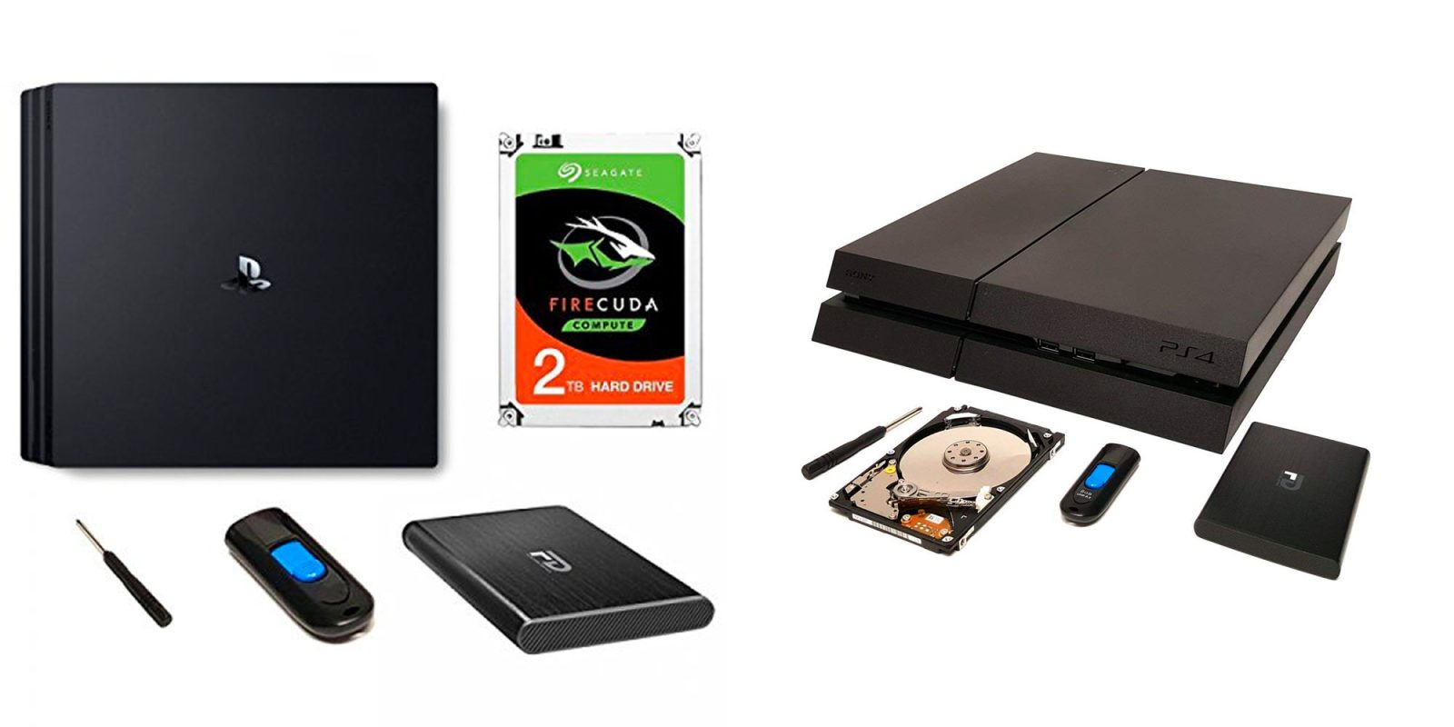 Expand your PS4/Pro's space with Fantom Drive's 2TB upgrade kit: $95 (Reg. $140)
