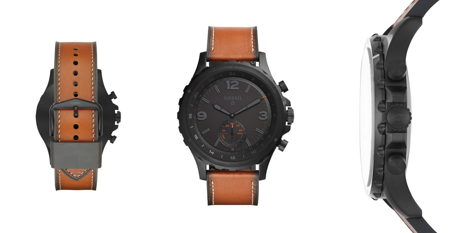 Fossil's Q Nate Hybrid Smartwatch has a 12-month battery: $116 (Reg. $155)