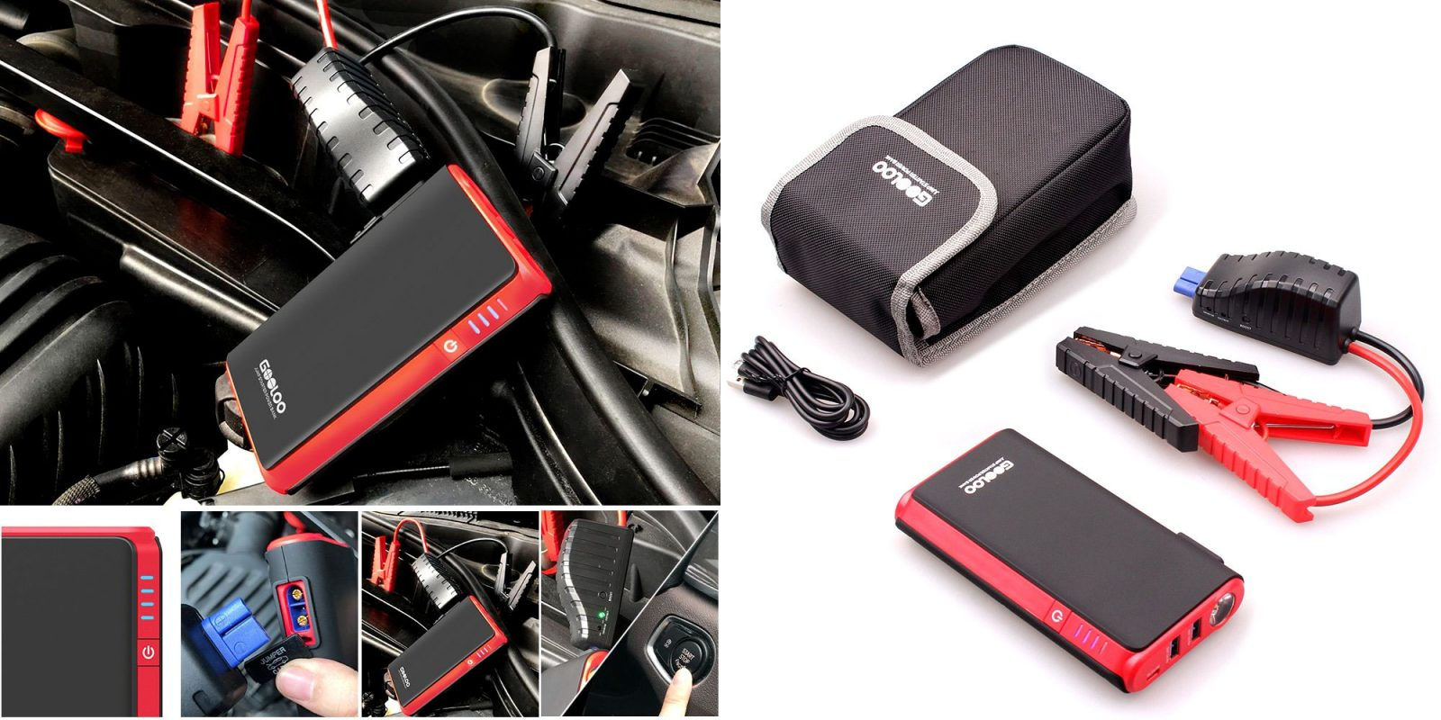 Everybody needs this 500A/10000mAh portable battery + jump starter for $30
