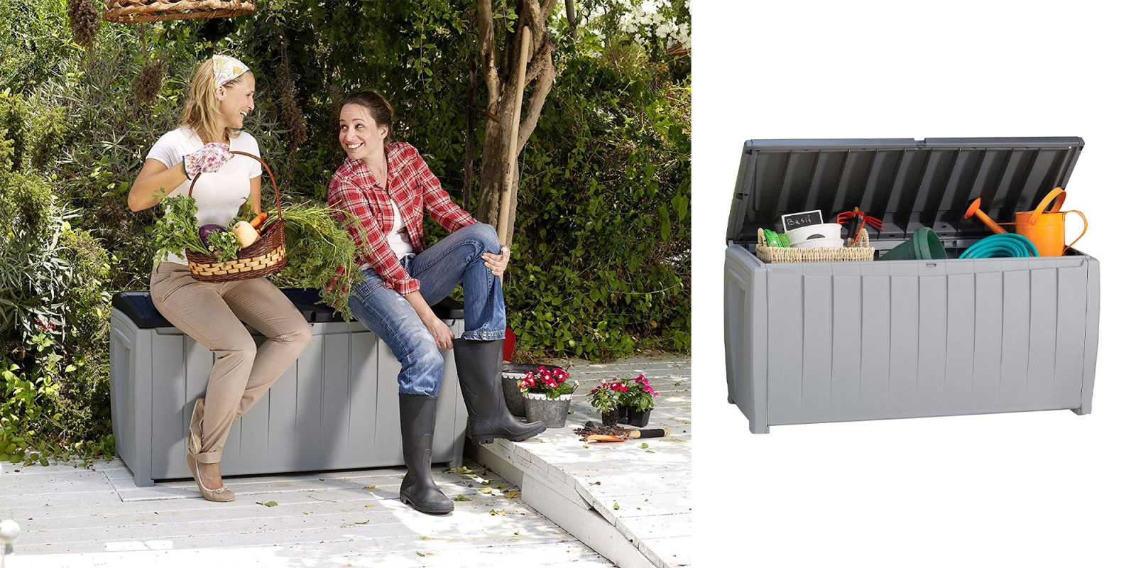 Keter's #1 best-selling 90-gallon deck storage box is down to $60 (Reg. $80)