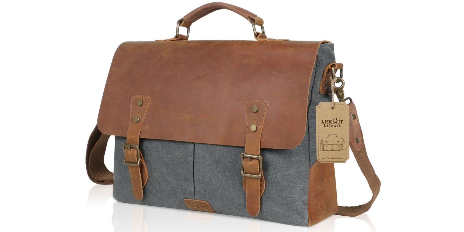 This genuine leather messenger bag is perfect for toting your MacBook at $20