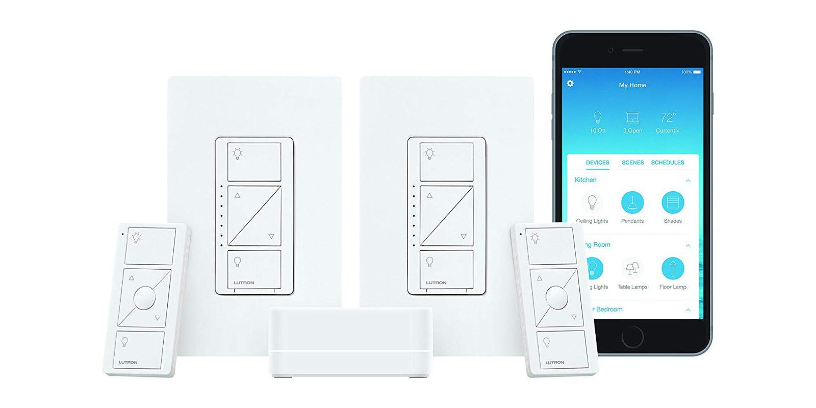 Amazon slashes 45% off Lutron's HomeKit Two Light Switch Starter Kit: $83