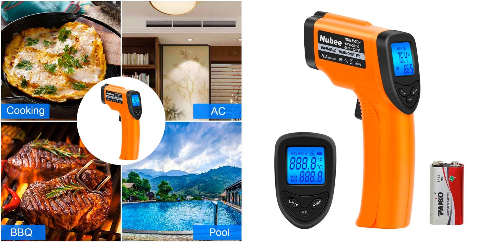 Measure temperatures up to 1,022F with this $14 digital infrared thermometer