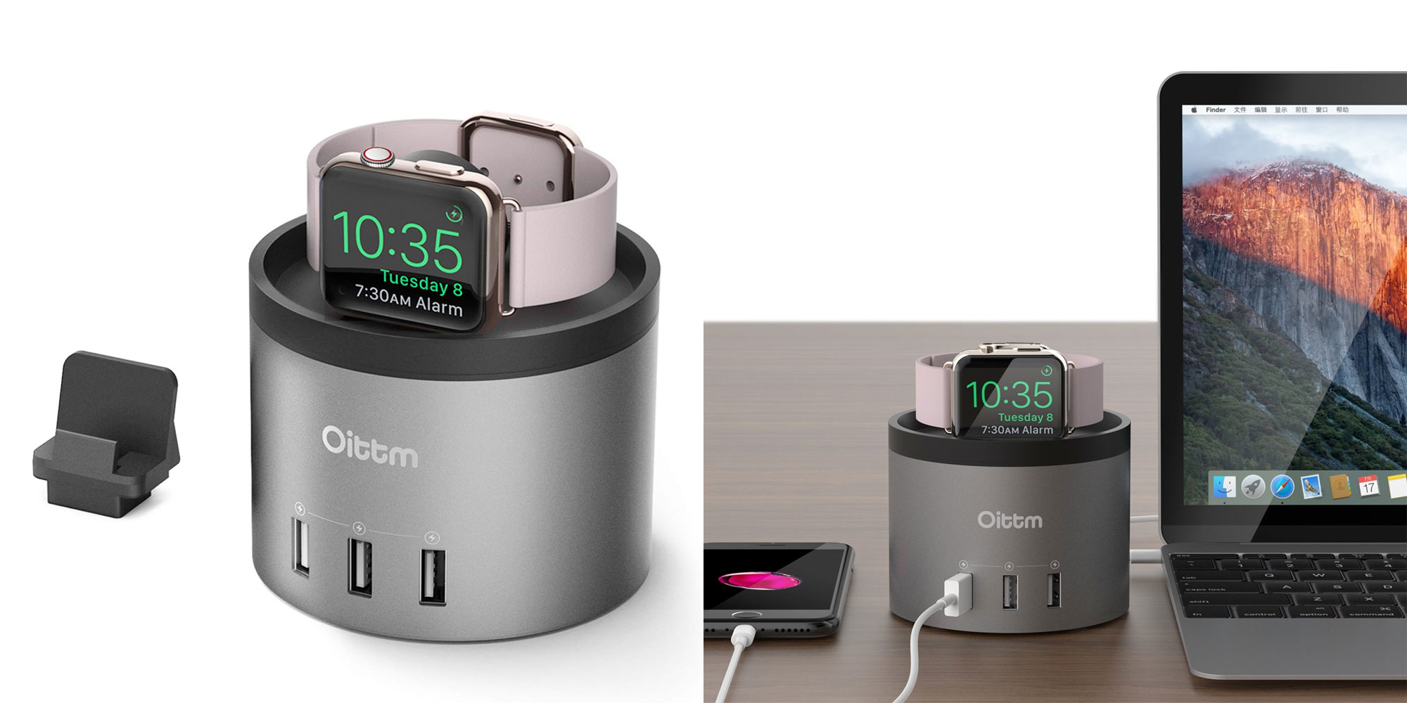This Apple Watch charging dock also has three 2.4A USB ports for $19