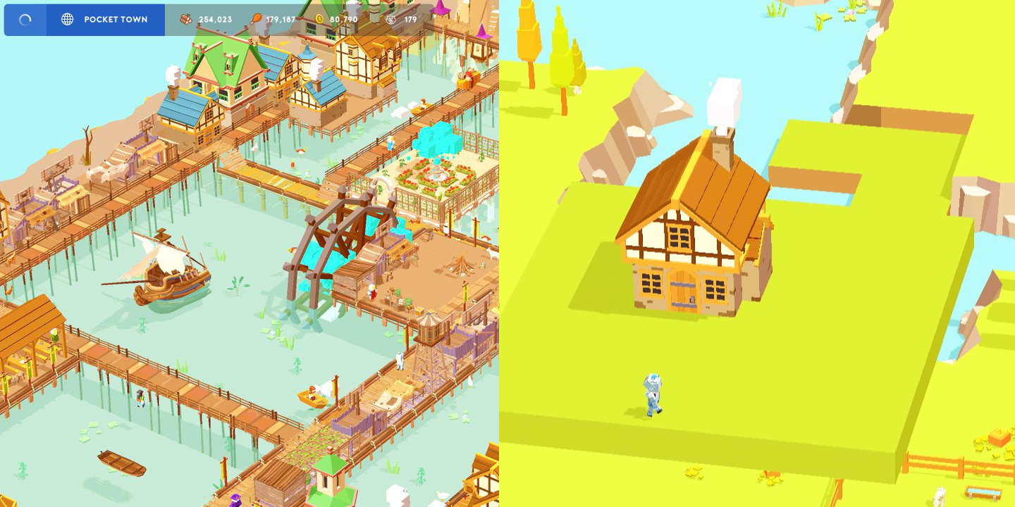 Develop your own miniature city in Pocket Build for iOS, now