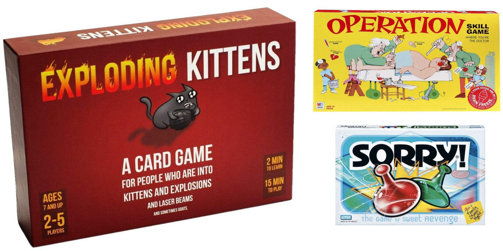 Prime Day Board/Card game deals from $8.50: Exploding Kittens, Monopoly, more