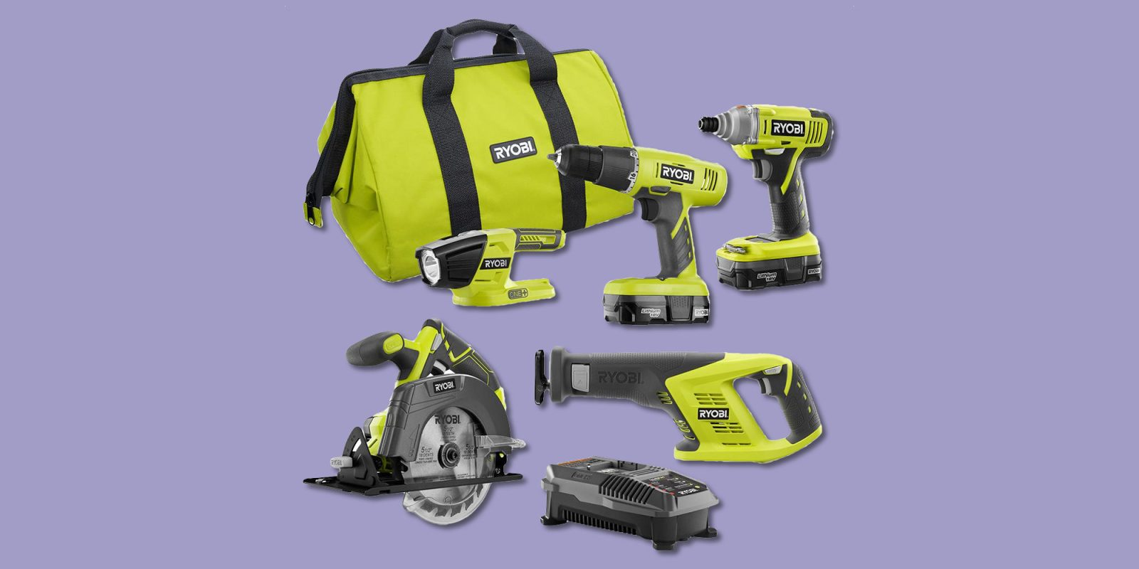 DIY with RYOBI's ONE+ 5-Tool Combo Kit for $169 (Reg. up to $219)