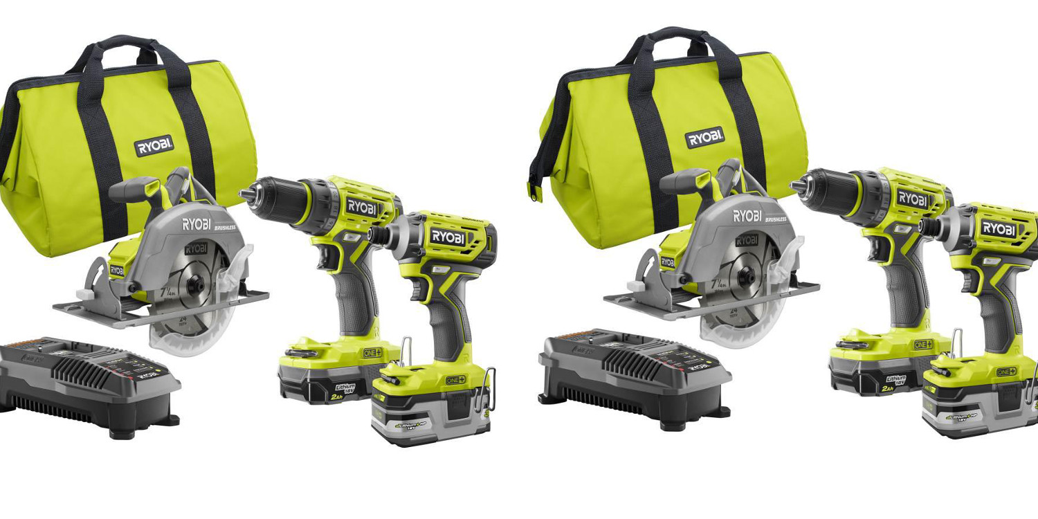 Home Depot 1-day Ryobi tool sale from $40: 3-piece kit $100 off + much more