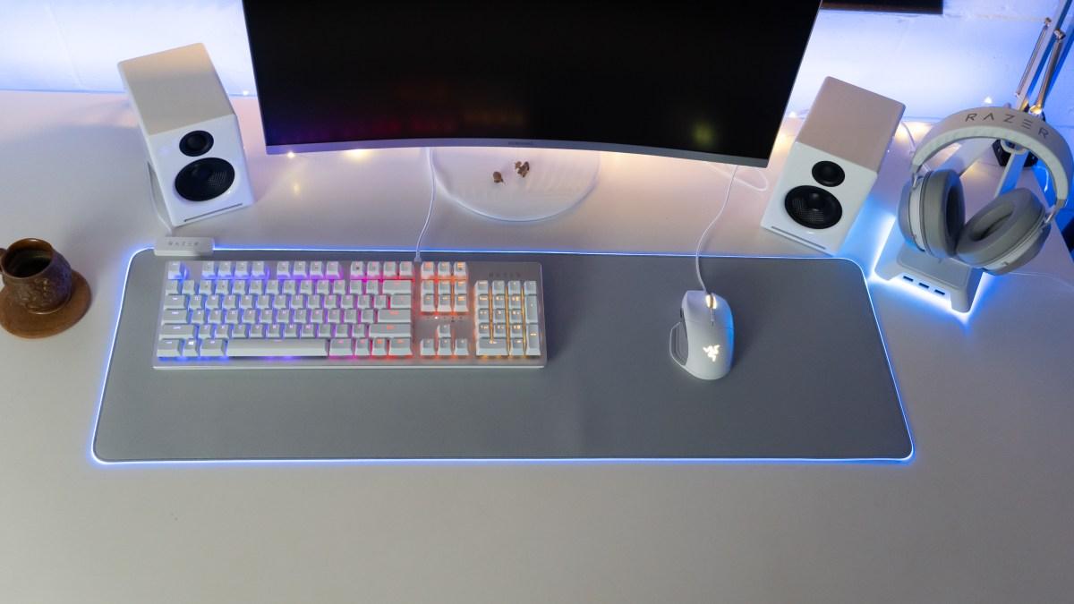Razer Mercury edition set on desk