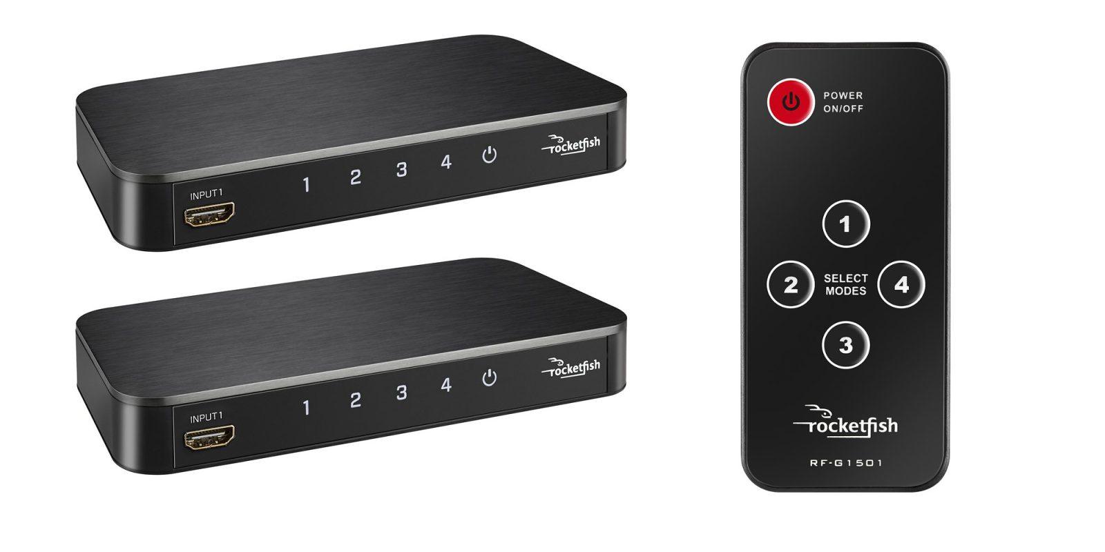Rocketfish's 4-Port 4K HDMI Switch Box plus remote now down