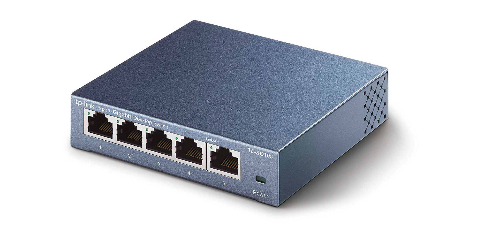 TP-Link 5 Port Gigabit Ethernet Network Switch  Ethernet Splitter Sturdy Metal
