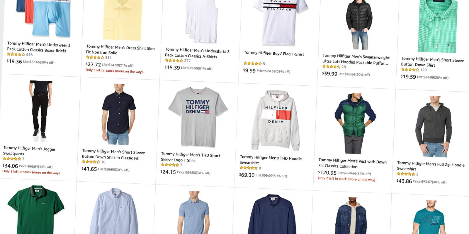 Save on Tommy Hilfiger clothes for men and women from $10, today only
