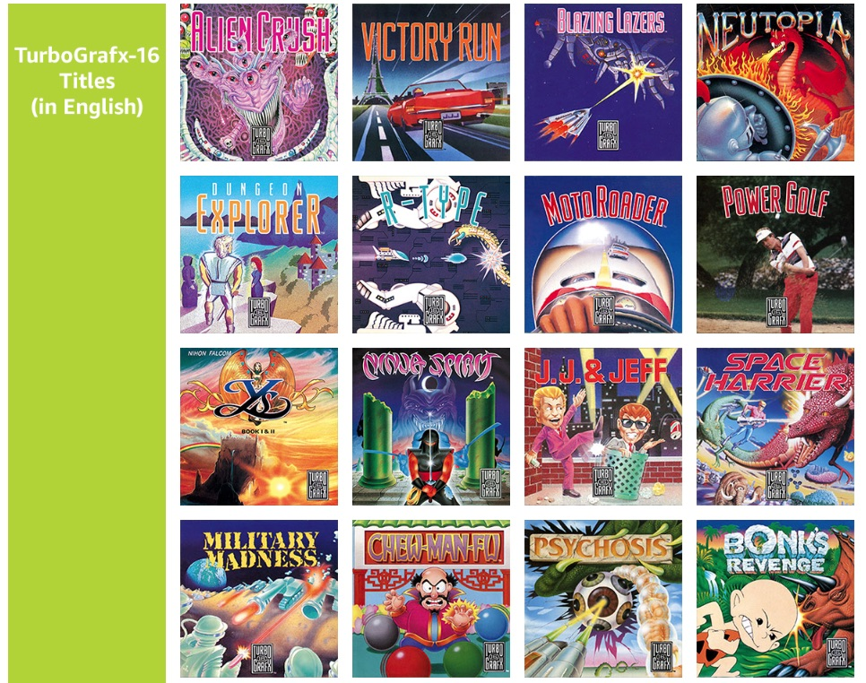 TurboGrafx-16 mini release date and game lineup