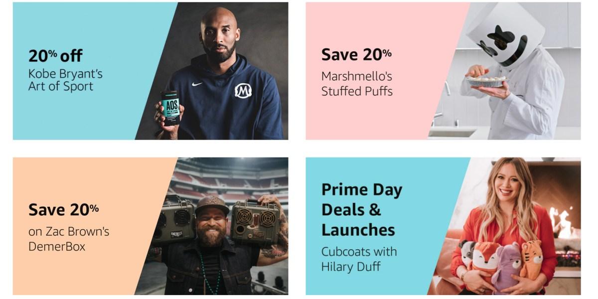 Amazon Prime Day celebrity collaborations