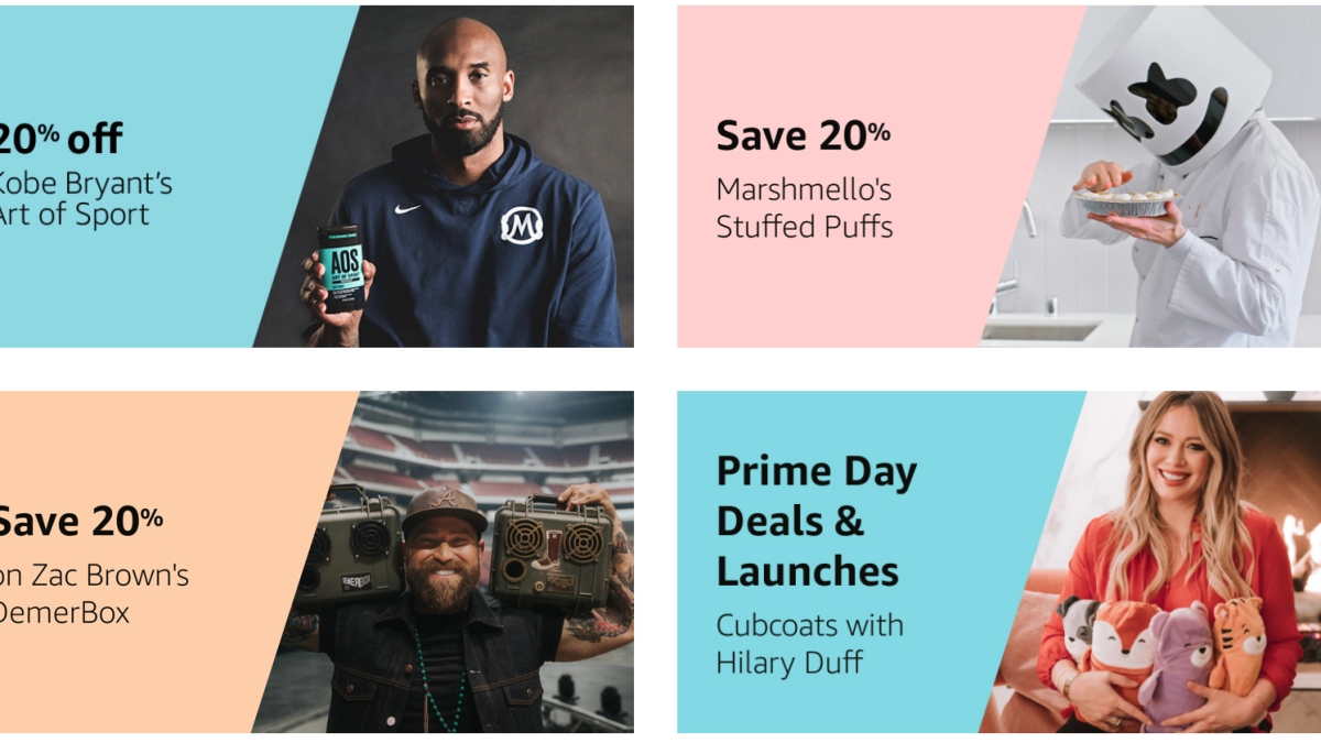 Amazon Prime Day celebrity collaborations