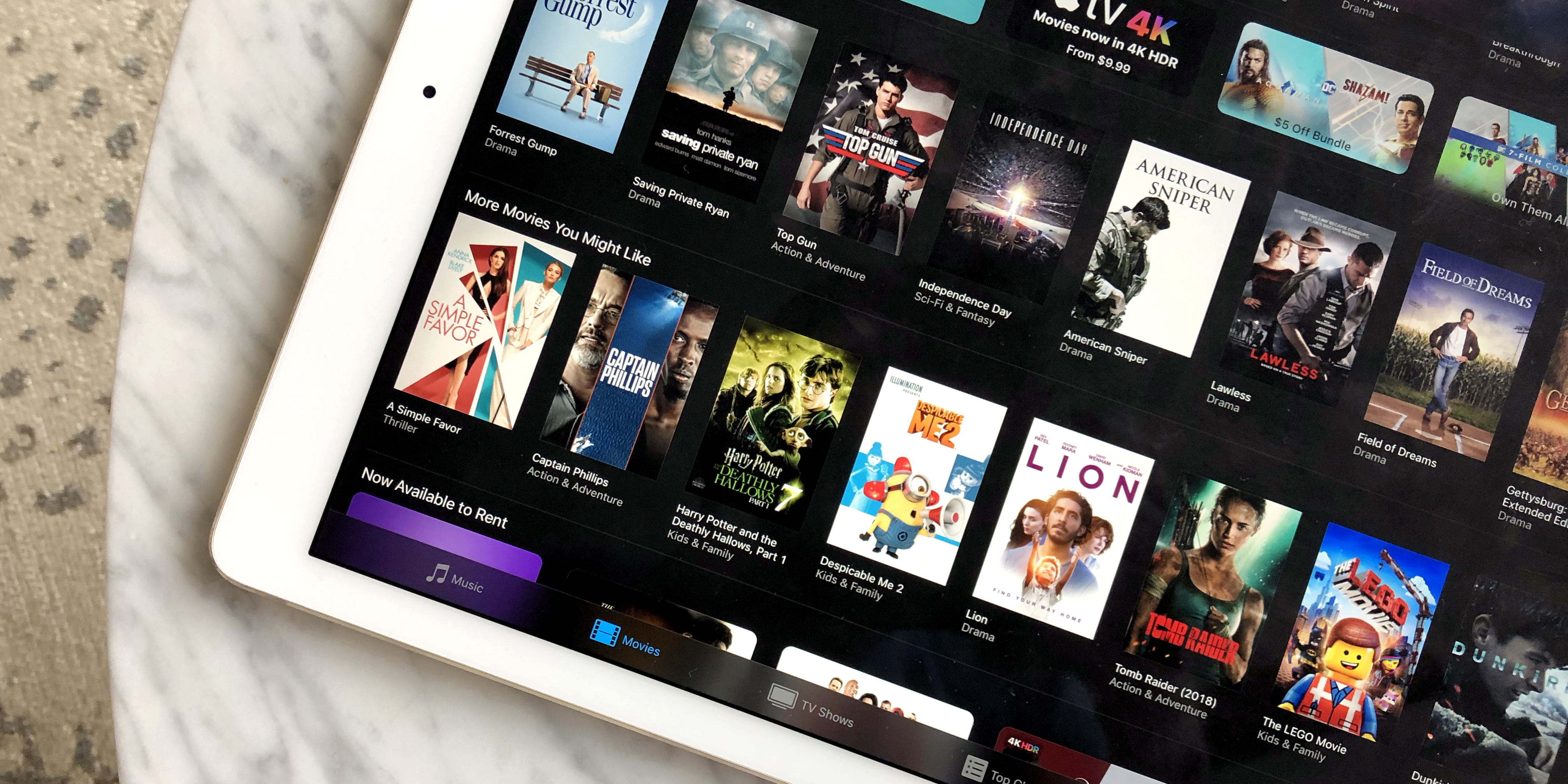 iTunes July 4th movie sale has $5 titles, '80s movies, $1 rentals, more