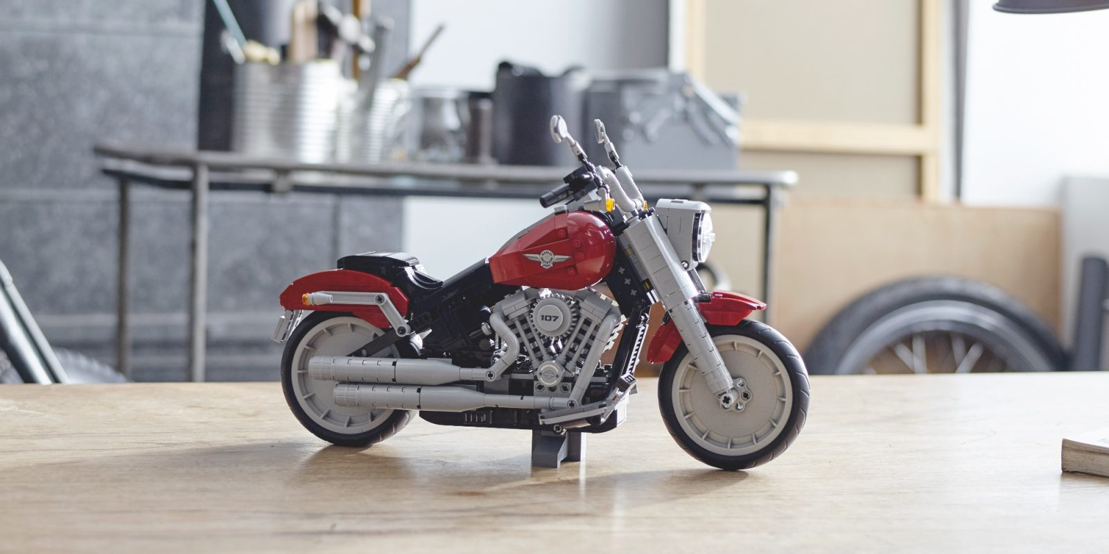 Harley-Davidson's Fat Boy motorcycle cruises into LEGO form as 1,000-piece set