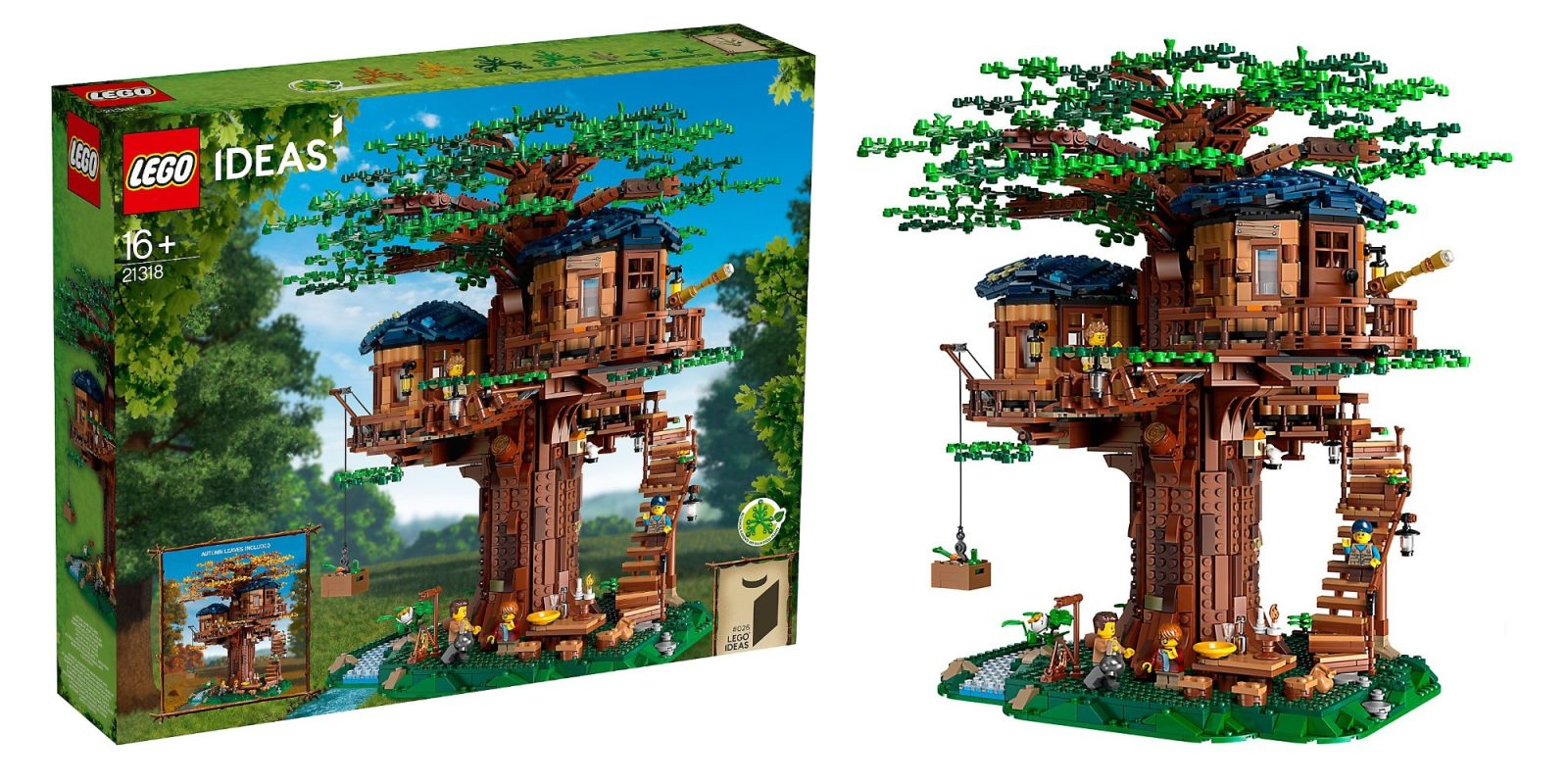 LEGO Ideas Treehouse is the largest offical fan-made kit so