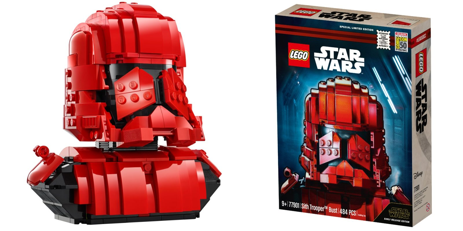 LEGO unveils 480-piece Sith Trooper Bust as first 'The Rise of Skywalker' set