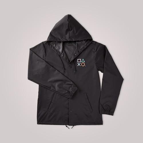New PlayStation gear symbols jacket