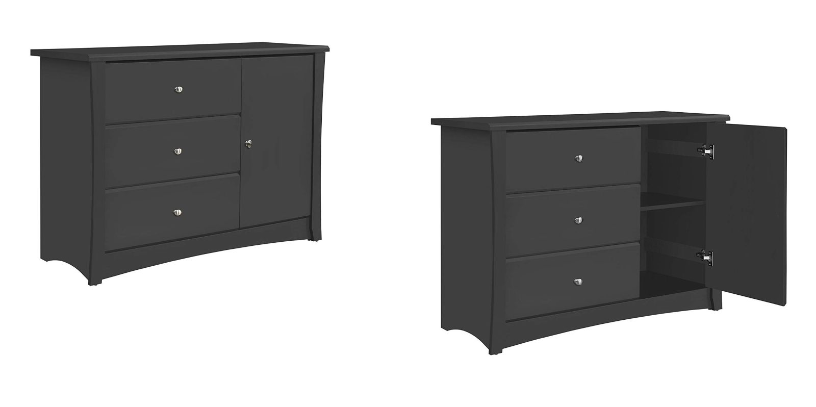 Fit clothes, toys, diapers in this sleek Storkcraft 3-Drawer Dresser at $85