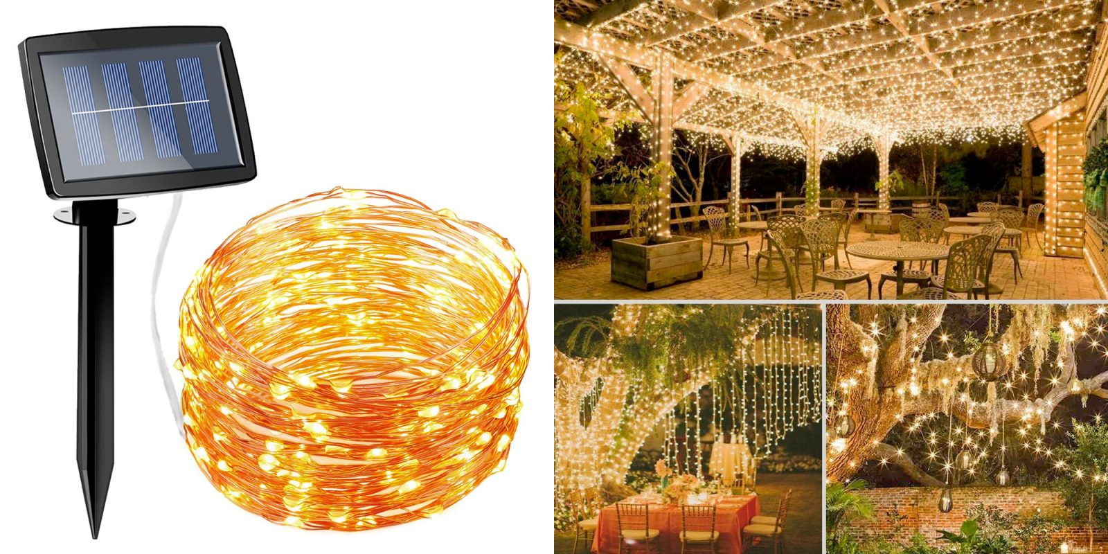 This $8 Prime shipped solar string light kit is a must for any outdoor space