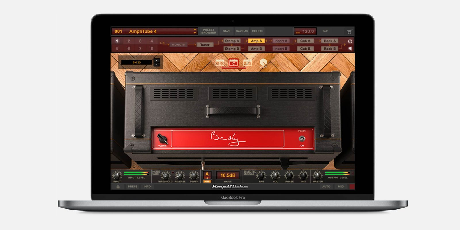 Get that famous Brian May guitar sound with the new Mac/iOS AmpliTube bundle