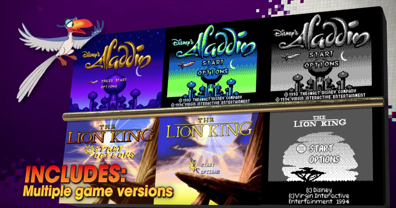 Classic Disney games on the way Aladdin-The Lion King